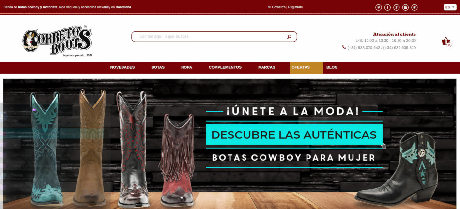 Corbeto's Boots Web